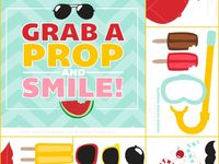 Fun and free printable props for your photo booth.