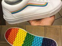 vans, rainbow vans, vans shoes