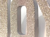 1000 images about decor on pinterest cardboard letters for Glitter cardboard letters