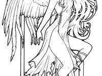 coloring pages of fallen angels - photo#32
