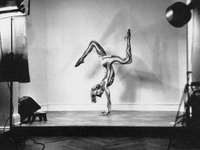 Images of the working relationship between a dancer and a photographer, and the process of capturing dance images. Usually the photographer goes into the dancer's world, these are mostly images where you see the dancer in the photographer's world.