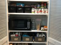 Easy and budget friendly kitchen and pantry storage hacks and ideas. Learn how to organize your pantry with dollar store containers for cheap. How to Organize Kitchen Pantry  Board