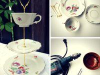 DIY Teller und Tasse Beleuchtung Befestigung Design Decoration