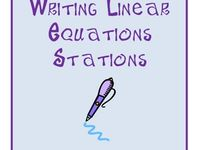 1000+ images about Writing Linear Equations on Pinterest | Equation ...
