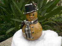painted gourds snowman
