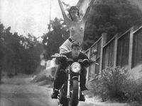These are all pictures that represent the epic sport of riding motorcycles.  I love all aspects of this life and lifestyle.  Biker born, and biker bred, one day I'll be biker dead.