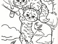 lisa frank coloring pages cats - photo#17