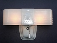 Cool Art Deco White Amp Black Porcelain Bathroom Wall Sconce Fixtures From