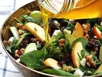 Salads ,dressings and side dishes and Food decorations