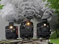 Trains and steam