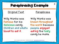 Pin By The Reflective Educator On Summarizing And Paraphrasing Writing Instruction Teaching Lessons How Do You Paraphrase An Academic Text
