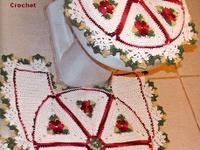 Tapetes de baño en crochet