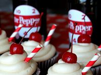 ... | Dr Pepper Cupcakes, Roasted Garlic Hummus and Cucumber Roll Ups