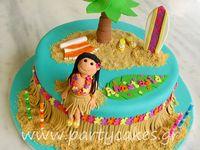 Hawaiian and pool party