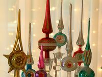 Vintage Christmas Toppers and Ornaments