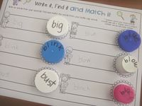 I have collected bottle caps for years and have found many ways to use them in hands-on games and activities. http://cleverclassroomblog.blogspot.com.au/#uds-search-results  This board is a collection of pins that show how bottle caps/lids can be used as word and letter tiles in a variety of ways.