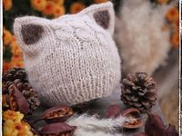 Hand Knitted Shady Blue Gray Multicolor Winter Sherpa Pom Pom Beanie WO57PP