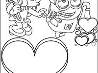 Valentines Day Coloring And Cute Printouts