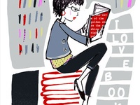 MOOD: HEAD IN A BOOK ART