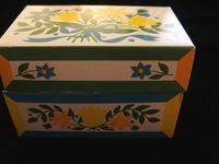 Vintage Recipe boxes and Christmas Card List Boxes