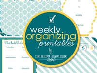Free Printable-  Daily,Weekly & Monthly Organization Lists