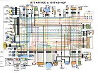 Yamaha Xs1000 Wiring Diagram 1978 1979 Yamaha Xs1100 Diagram Electrical Wiring Diagram