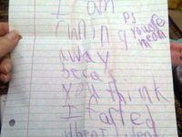 Hilarious kids' notes...