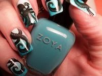 octopus themed nail art