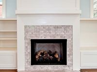 Fireplace Tile Ideas on best ceiling design living room