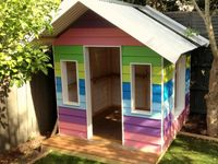 29 besten kinderspielh user bilder auf pinterest kinder gartenhaus baumhaus und garten deko. Black Bedroom Furniture Sets. Home Design Ideas