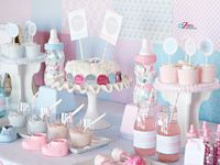 Gender reveal Theme ideas! Gender reveal Party cake ideas, Gender reveal dessert table, Gender reveal Party decorations and supplies, Invitations and Favors for a memorable Gender reveal baby shower party, games, FREE party printables @ www.babyshowerideas4U.com
