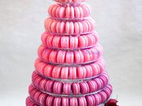 Ideas and inspiration for a wedding macaron tower in a variety of colours and styles