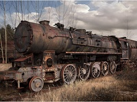 old and rusty trains