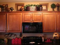 Deco. Above kitchen cabinets