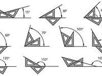 8 Ideas De Angulos Con Escuadras Técnicas De Dibujo Angulos Con Escuadras Dibujo Tecnico Arquitectonico