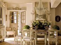 Board II of French Country Home Design.  Pictures include decor from French country homes, chateaus, little rustic cottages, French Provincial designs and lastly, Parisian flats.  Nearly all pins  include original description or notes.