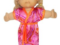Making a wardrobe for the DD's Cabbage Patch doll - poor thing gets around naked so often, she must have hypothermia!!