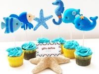 Any sized budget party for under the sea, fish, beach, goldfish, or mermaid themed party! :D