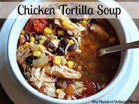 ... Slow Cooker Mexican Chicken, Chicken Tortilla Soup and Black Bean Corn