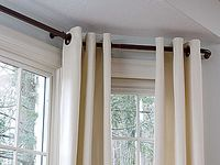 1000+ images about Bay window curtain rod on Pinterest ...