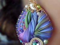 Handmade jewelry (shibori and soutache)