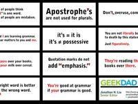 Grammar bulletin boards