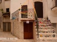 Yarn bombs, knit and crochet  / Street art, Puglia, Italy. Yarns bombs create by the Guerrilla Knitting group in Bari, Italy.  http://effettoterra.blogspot.it/