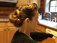 Apostolic Pentecostal Hairstyles on Pinterest | Pin Curls, Side Buns ...