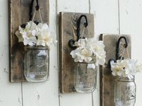 WANTS On Pinterest Rustic Wall Decor Mason Jar Vases And Mason Jars