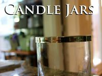 Candle jars reuse