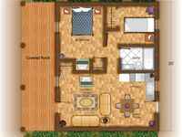 Mother in law quarters on pinterest prefab cabins tiny for Mother in law cottage log cabin