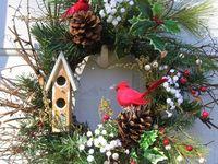 winter, Christmas wreaths