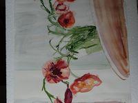 Watercolor Papaver orientale