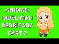 Green Screen Animasi Muslimah Animasi Mulut Bergerak